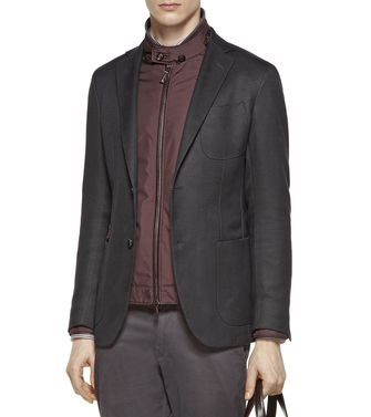 ERMENEGILDO ZEGNA: Casual Jacket Steel grey - 41387249FS