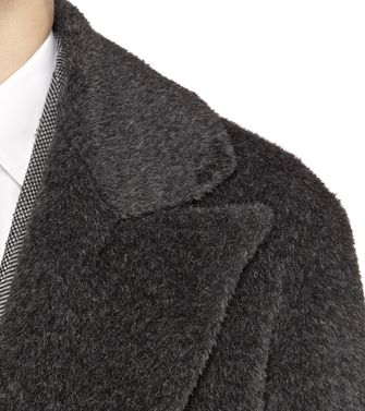 ERMENEGILDO ZEGNA: Coat Black - Dark brown - 41388181VN