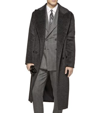 ERMENEGILDO ZEGNA: Coat Dark brown - 41388181VN