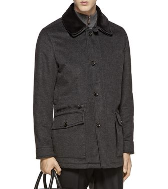 ERMENEGILDO ZEGNA: Coat Dark brown - 41388240HO