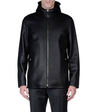 ERMENEGILDO ZEGNA: Leather outerwear Blue - 41389126TA