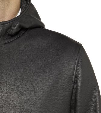 ERMENEGILDO ZEGNA: Leather outerwear Black - 41389126ta
