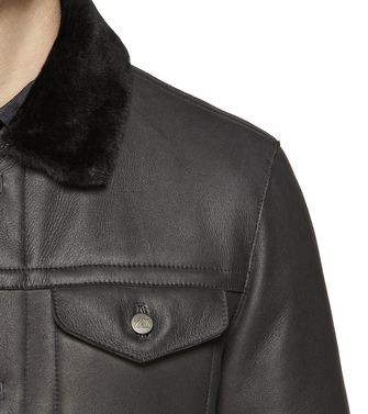 ZEGNA SPORT: Leather outerwear Black - Dark brown - 41390920VQ