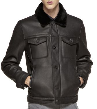 ZEGNA SPORT: Leather outerwear Black - 41390920VQ