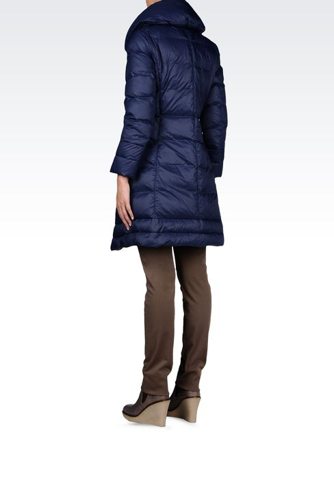 LIGHTWEIGHT NYLON DOWN COAT: Mid-length jackets Women by Armani - 3