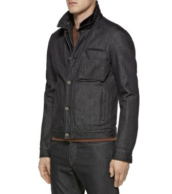 ZZEGNA: Fabric Jacket Steel grey - 41392010VT