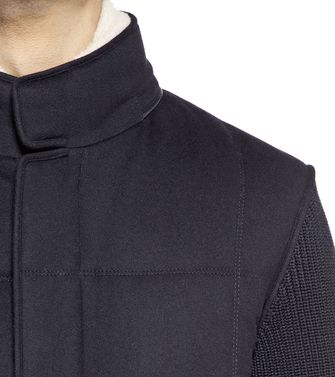 ERMENEGILDO ZEGNA: Fabric Jacket Black - 41392015DC