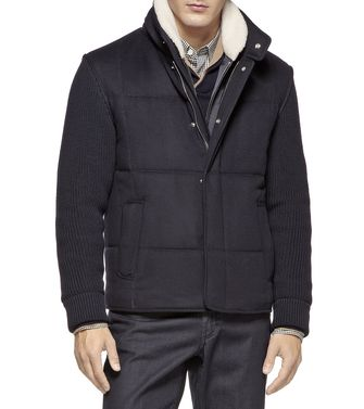 ERMENEGILDO ZEGNA: Fabric Jacket Dark blue - 41392015DC