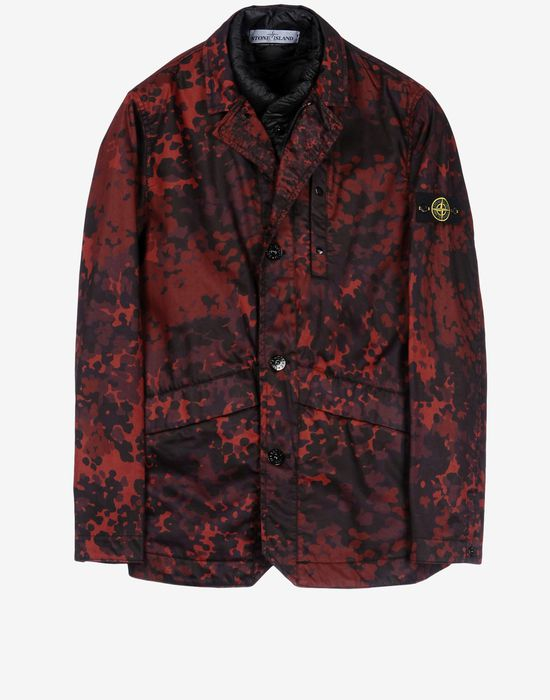 a2618f989484f A0555 RASO GOMMATO CAMO PRINT OVD Mid Length Jacket Stone Island Men -  Official Online Store