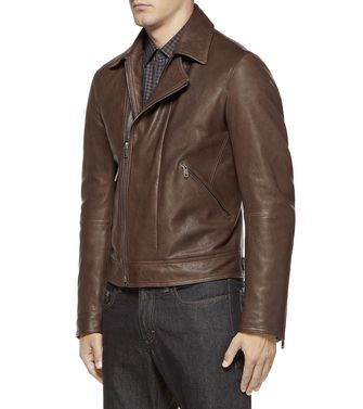 ZZEGNA: Leather outerwear Dark brown - 41393583SK