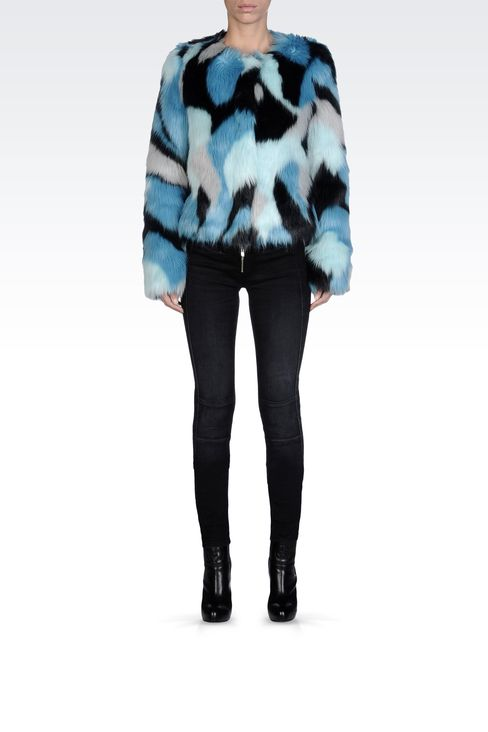 LEATHER AND FUR: Faux furs Women by Armani - 1