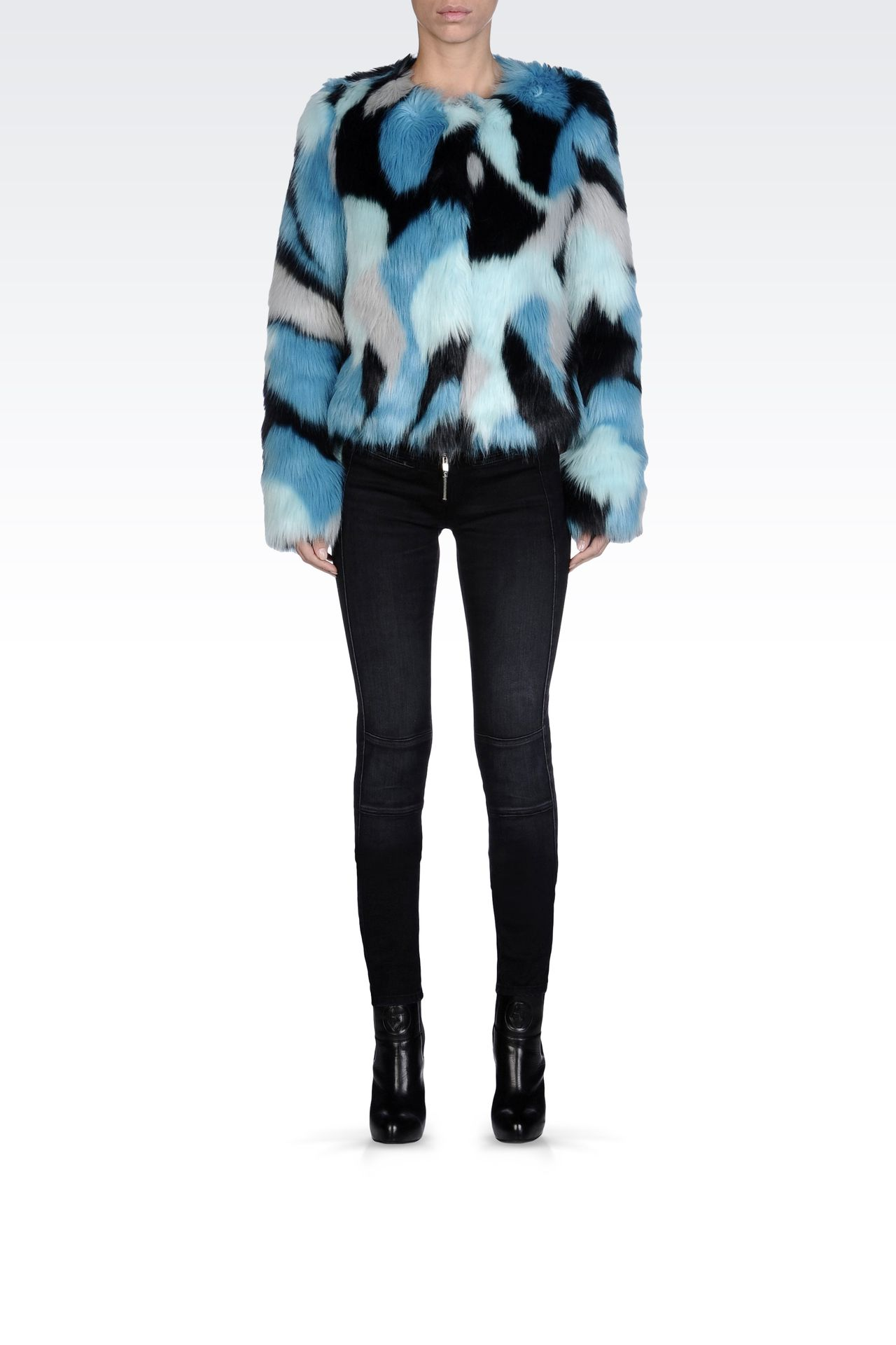 LEATHER AND FUR: Faux furs Women by Armani - 0
