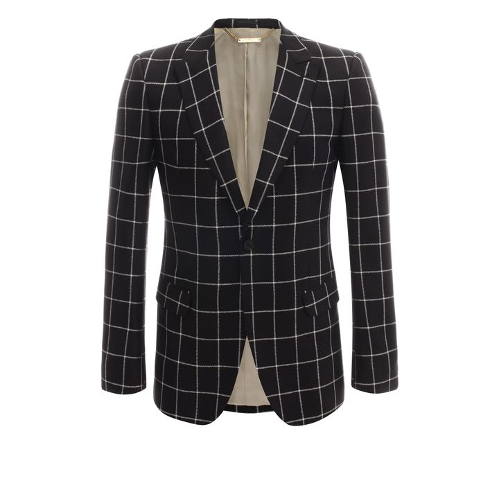 Alexander McQueen, Silk Check Jacket