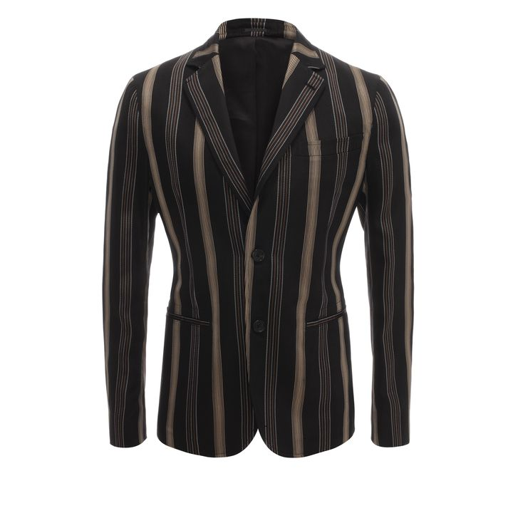 Alexander McQueen, Stripe Jacquard Deconstructed Jacket