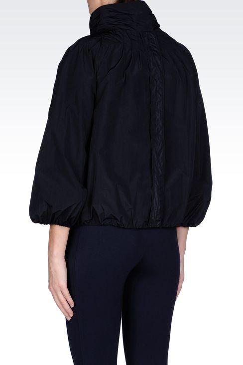 NYLON PEA COAT WITH DETACHABLE GILET: Dust jackets Women by Armani - 3