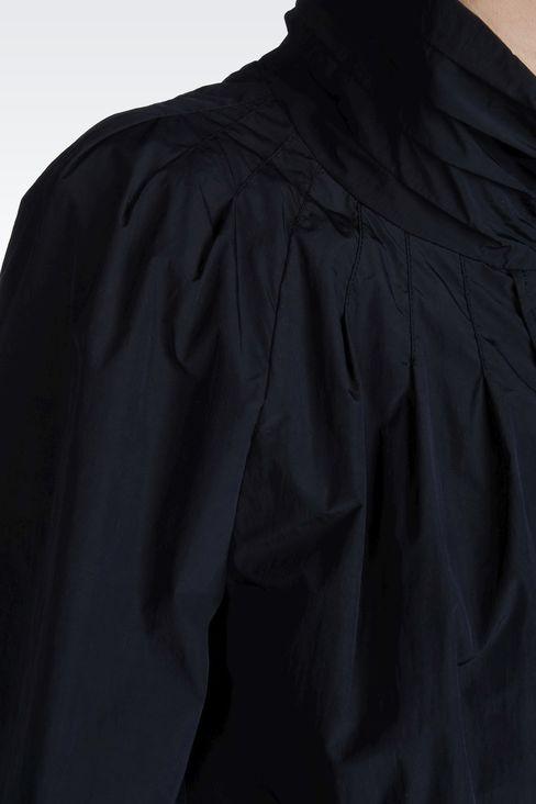 NYLON PEA COAT WITH DETACHABLE GILET: Dust jackets Women by Armani - 4