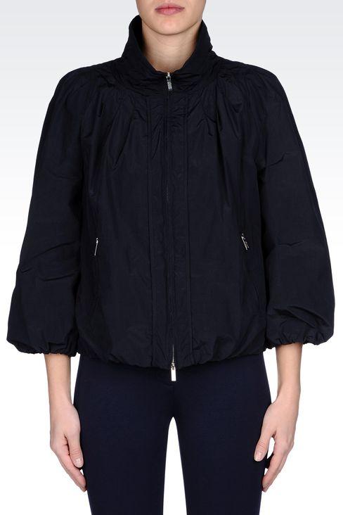 NYLON PEA COAT WITH DETACHABLE GILET: Dust jackets Women by Armani - 2