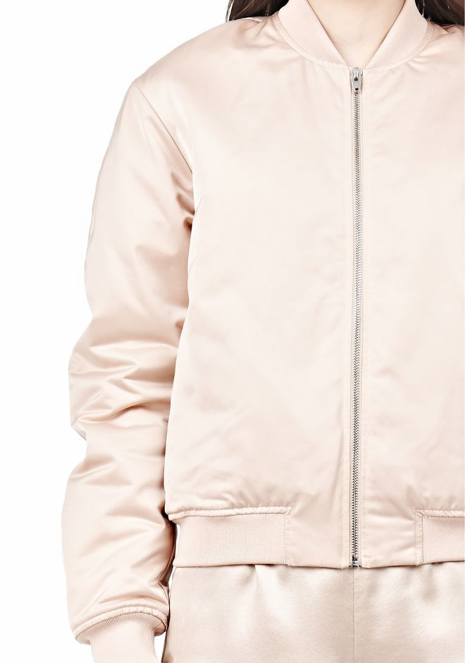 T by ALEXANDER WANG TECHNICAL MEMORY SATIN BOMBER JACKET BOMBER Adult 12_n_a