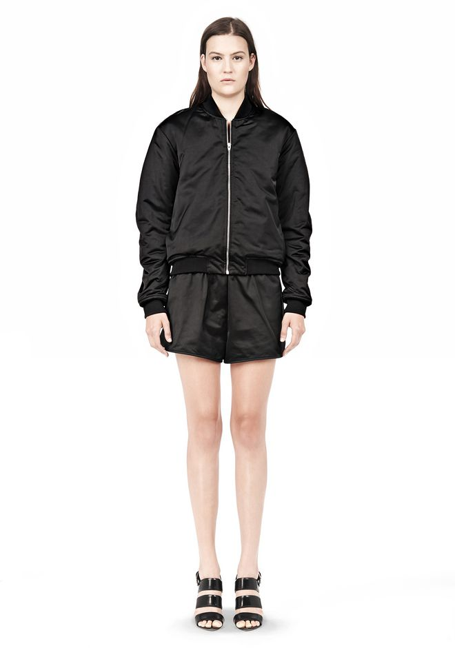 T by ALEXANDER WANG TECHNICAL MEMORY SATIN BOMBER JACKET