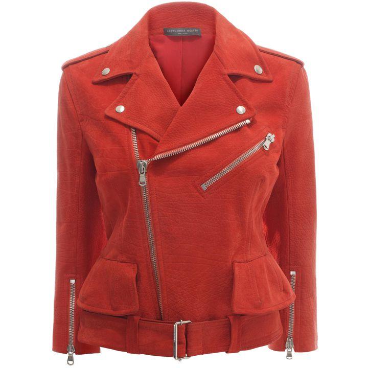 Alexander McQueen, Cropped Suede Biker Jacket