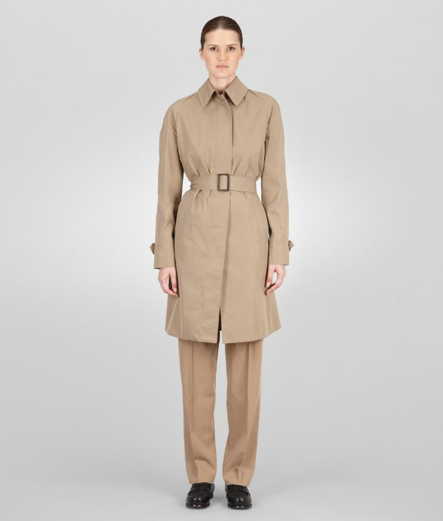 BOTTEGA VENETA Walnut Waterproof Cotton Coat Coat or Jacket D fp