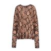 Stella McCartney - Pull imprimé serpent - PE14 - f
