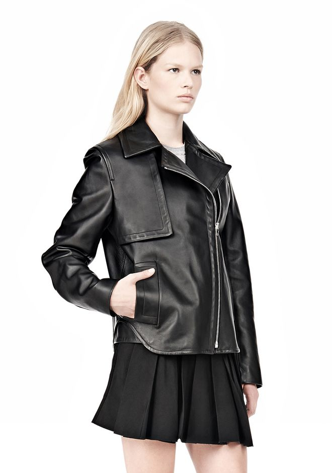 ALEXANDER WANG BOXY LEATHER JACKET Jacket Adult 12_n_a