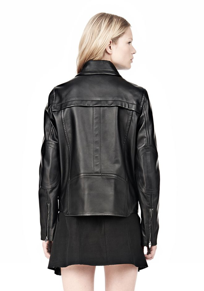 ALEXANDER WANG BOXY LEATHER JACKET Jacket Adult 12_n_d