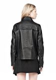 ALEXANDER WANG BOXY LEATHER JACKET Jacket Adult 8_n_d