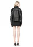 ALEXANDER WANG BOXY LEATHER JACKET Jacket Adult 8_n_r