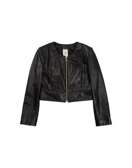 DONDUP DQUEEN Leather outerwear $ 592.00