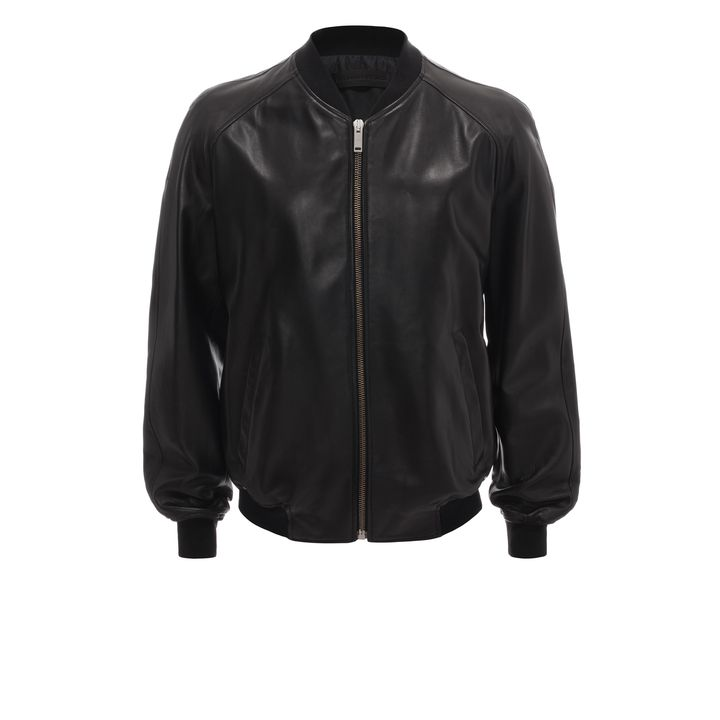 Alexander McQueen, Perforated Skull Leather Bomber Jacket
