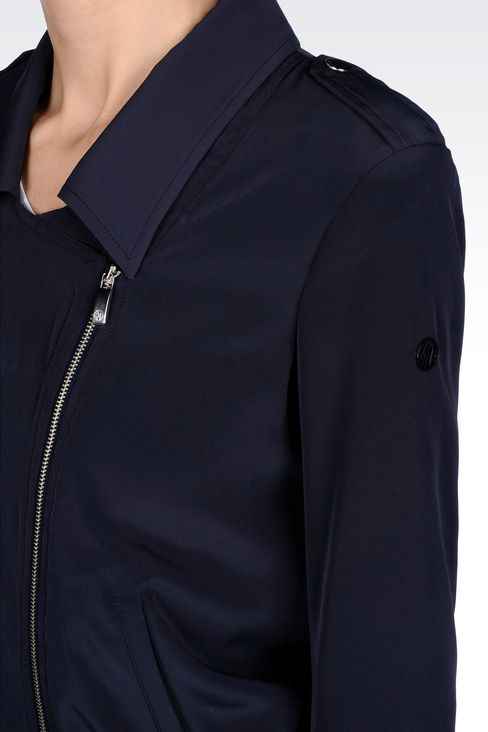 JACKET IN TECHNICAL FABRIC WITH ASYMMETRIC FASTENING: Bomber jackets Women by Armani - 4