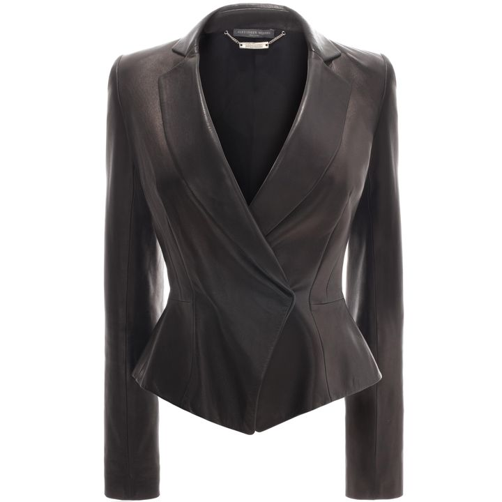 Alexander McQueen, Peplum Leather Jacket