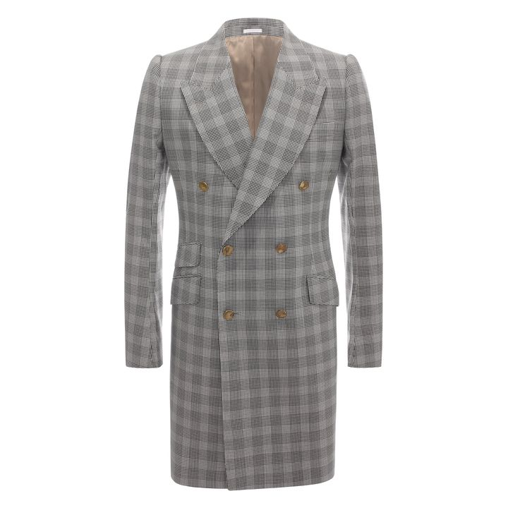 Alexander McQueen, Blumed Check Double Breasted Jacket