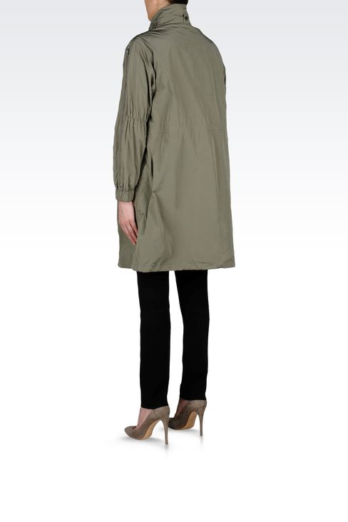 PARKA WITH ZIP DETAIL TO SLEEVE: Single-breasted coats Women by Armani - 3