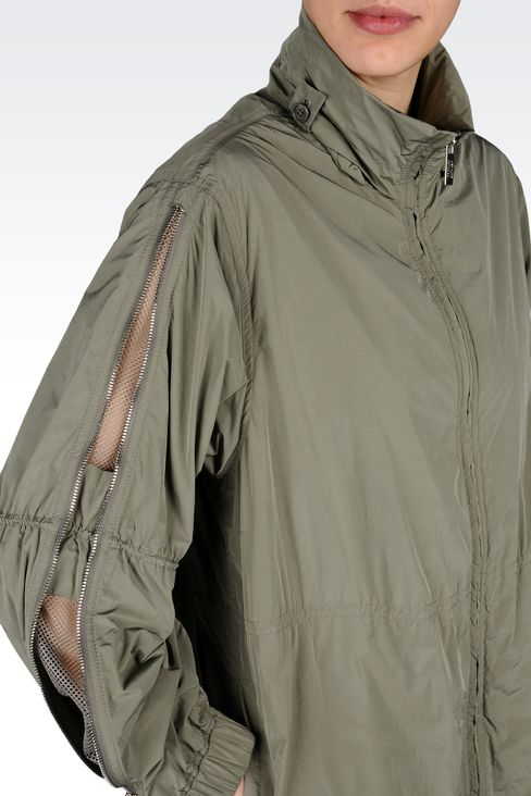 PARKA WITH ZIP DETAIL TO SLEEVE: Single-breasted coats Women by Armani - 4