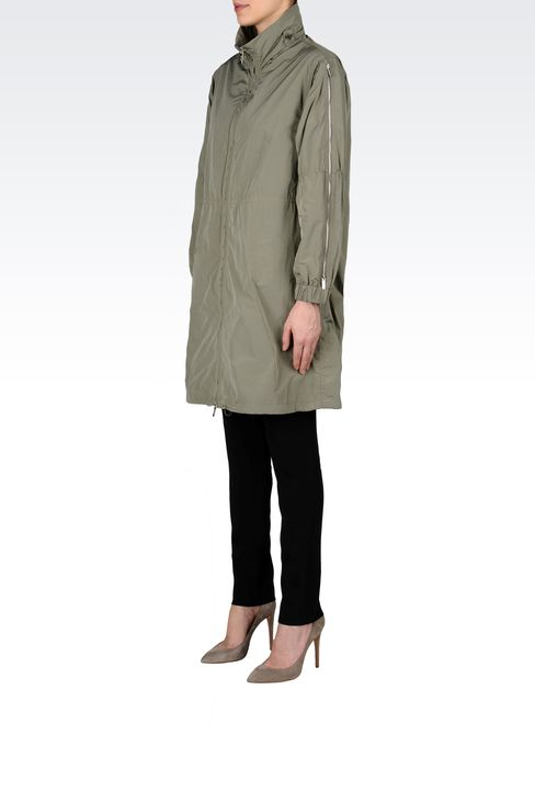 PARKA WITH ZIP DETAIL TO SLEEVE: Single-breasted coats Women by Armani - 2
