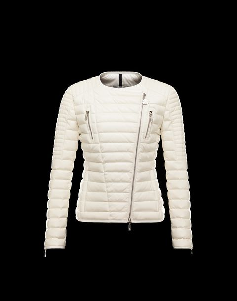 MONCLER Women - Spring-Summer 14 - OUTERWEAR - Leather outerwear - BEURRE