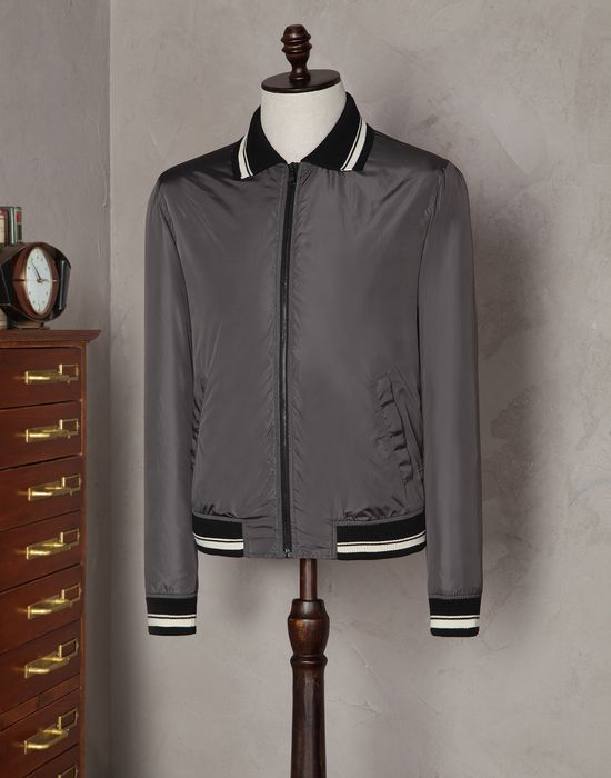 Dolce gabbana nylon polo shirt collar jacket with two for Polo shirt with jacket