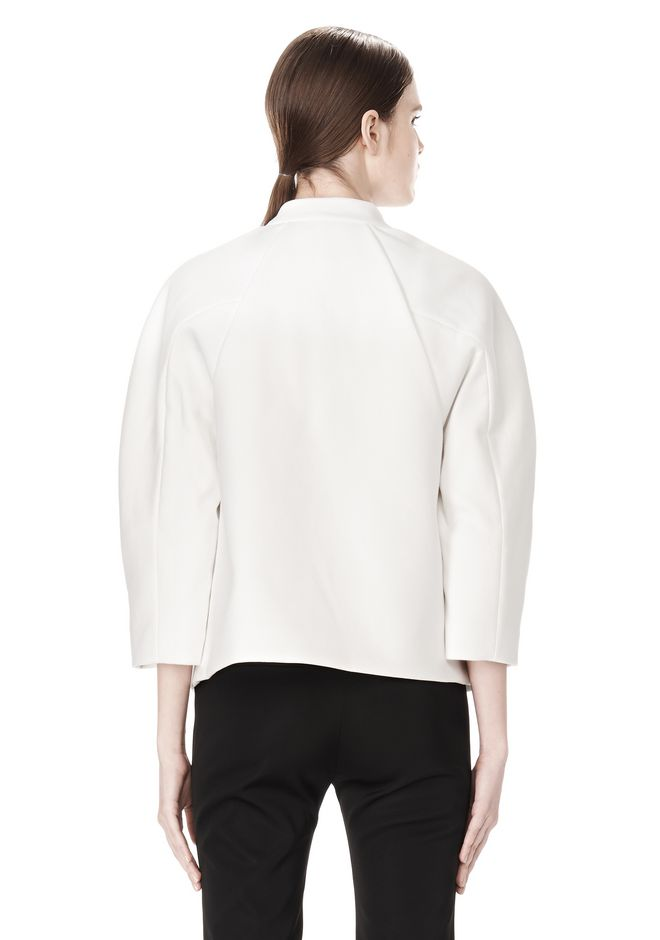 EXCLUSIVE CROPPED PEACOAT WITH SUSPENDED BACK