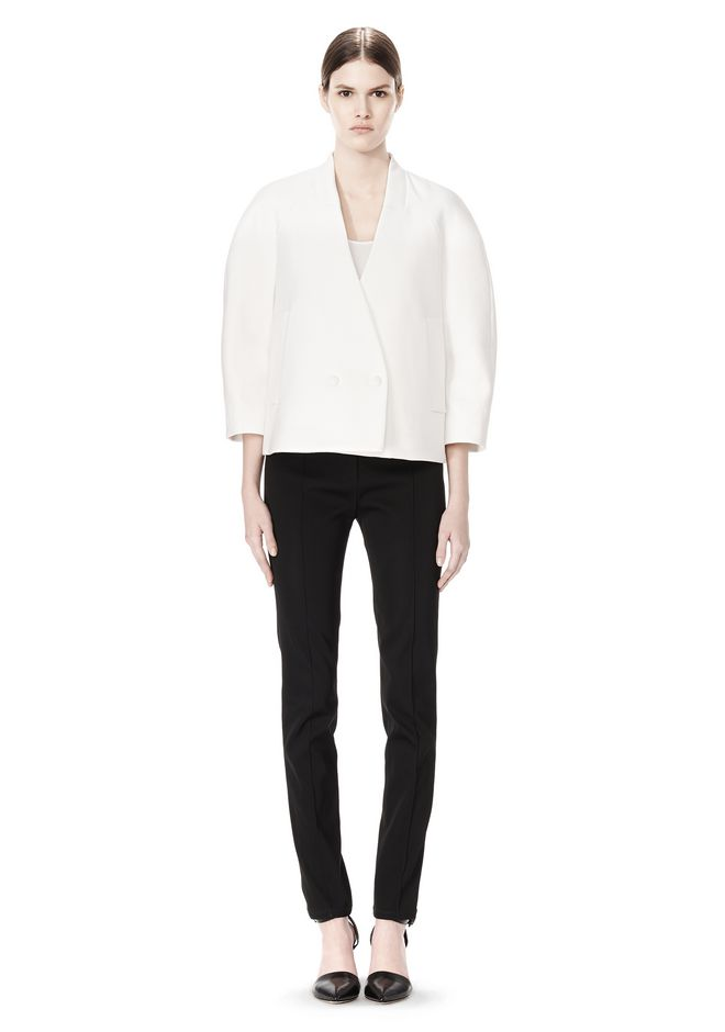 ALEXANDER WANG EXCLUSIVE CROPPED PEACOAT WITH SUSPENDED BACK