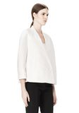 ALEXANDER WANG EXCLUSIVE CROPPED PEACOAT WITH SUSPENDED BACK JACKETS AND OUTERWEAR  Adult 8_n_a