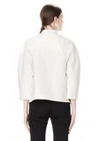 ALEXANDER WANG EXCLUSIVE CROPPED PEACOAT WITH SUSPENDED BACK JACKETS AND OUTERWEAR  Adult 8_n_d