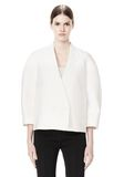 ALEXANDER WANG EXCLUSIVE CROPPED PEACOAT WITH SUSPENDED BACK JACKETS AND OUTERWEAR  Adult 8_n_e