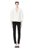 ALEXANDER WANG EXCLUSIVE CROPPED PEACOAT WITH SUSPENDED BACK JACKETS AND OUTERWEAR  Adult 8_n_f