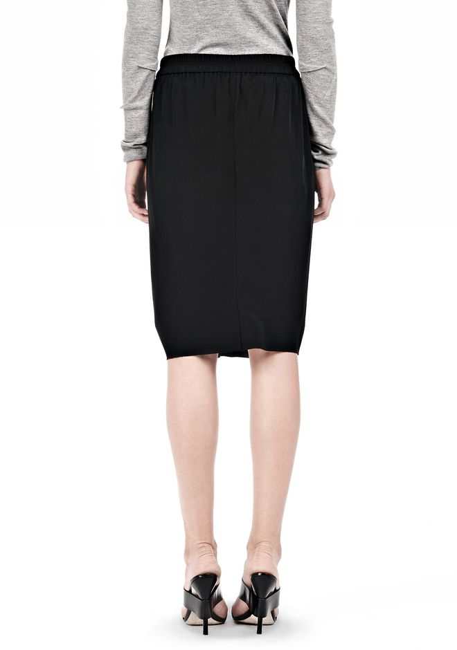 ALEXANDER WANG VACUUM PRESSED IRREGULAR PLEAT FRONT SKIRT SKIRT Adult 12_n_d