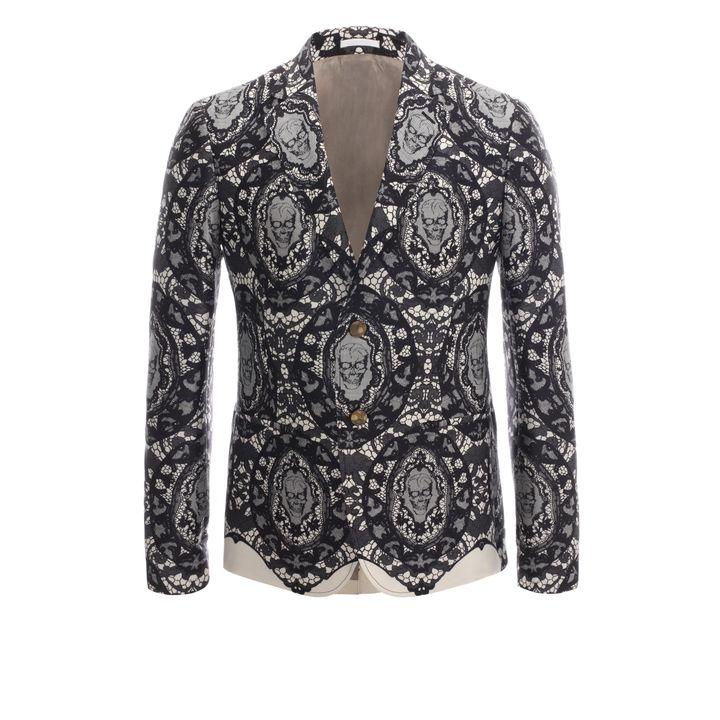 Alexander McQueen, Skull Lace Deconstructed Jacket