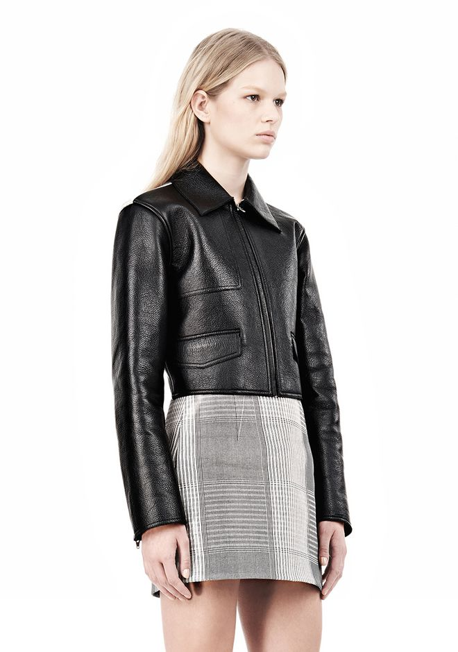 EXCLUSIVE BONDED ZIP FRONT JACKET WITH KNIT BACK