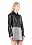 ALEXANDER WANG EXCLUSIVE BONDED ZIP FRONT JACKET WITH KNIT BACK Jacket Adult 8_n_a